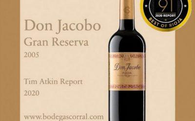 Don Jacobo Gran Reserva 2005, 91 puntos Tim Atkin