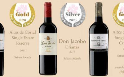 Medallas de oro y plata en los Premios Sakura Japan Women's Wine Awards
