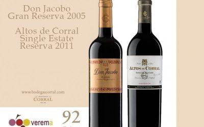 Buenas puntuaciones en la guía de ADN Verema para nuestros vinos