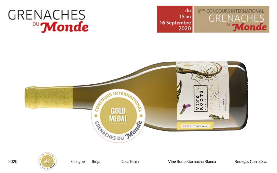 Vine Roots Garnacha Blanca 2019 Medalla de Oro en el concurso Grenaches du Monde